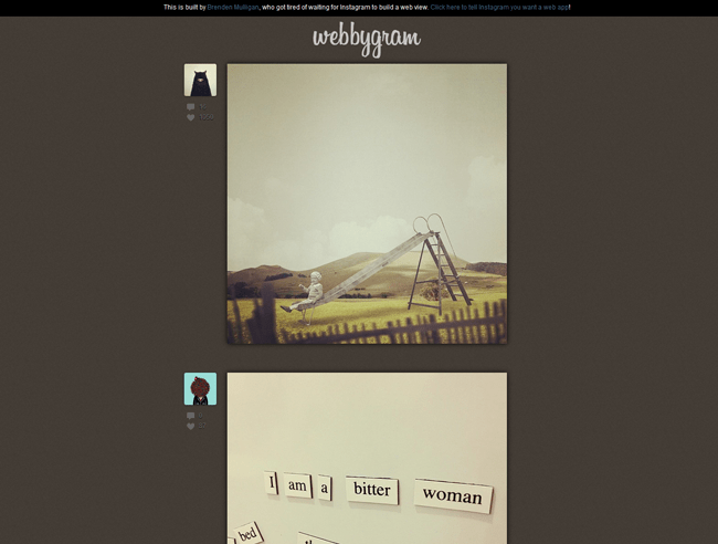 6 Cool Ways of Viewing Instagram on the Web - Webbygram