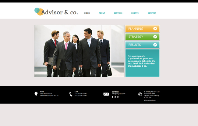 Advisor&Co Wix Template