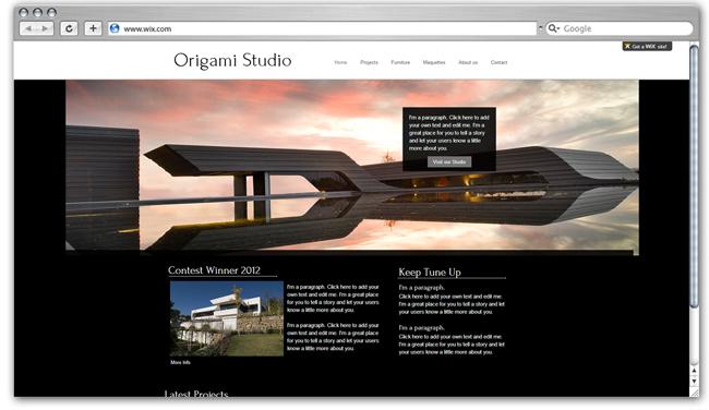 Runner Up Origami Studio Website
