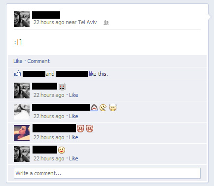 Facebook Adds Emoticons to Comments