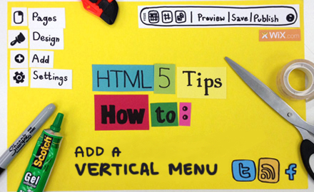 HowToAdd a Vertical Menu to Your site