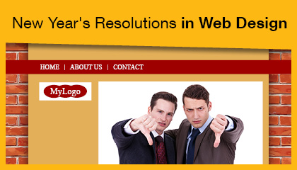 new year's resolutions in web design