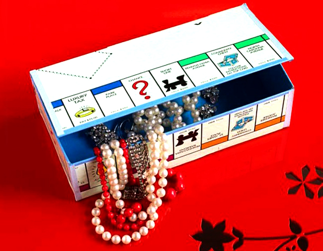 board game turned into a jewellery box