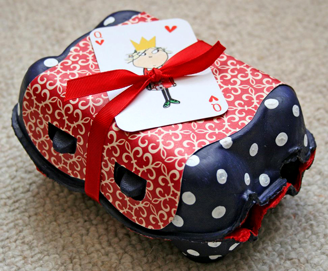 gift box from egg box