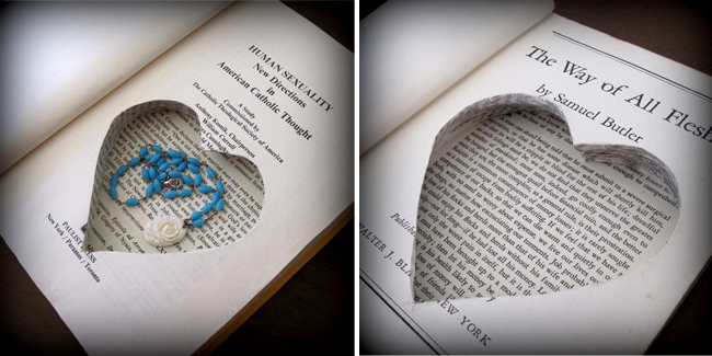 hollow book as a gift box