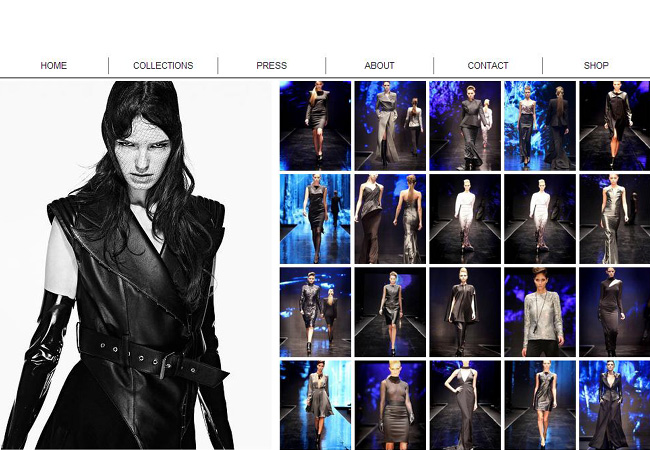 Beautiful Fashion Websites created with Wix