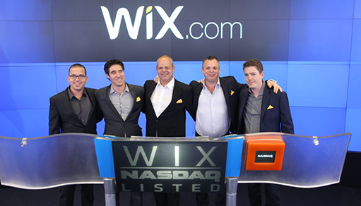 wix goes public and is officially traded in nasdaq