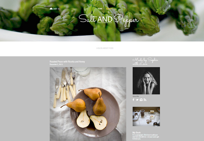 Wix Food Photography Blog Template