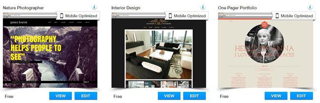 Wix Templates for Online Portfolios