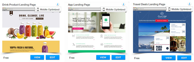 Wix Templates for Landing pages
