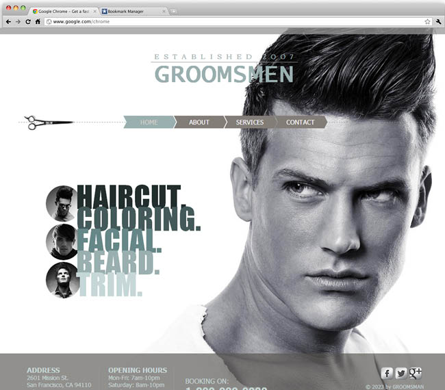 Male Salon Template