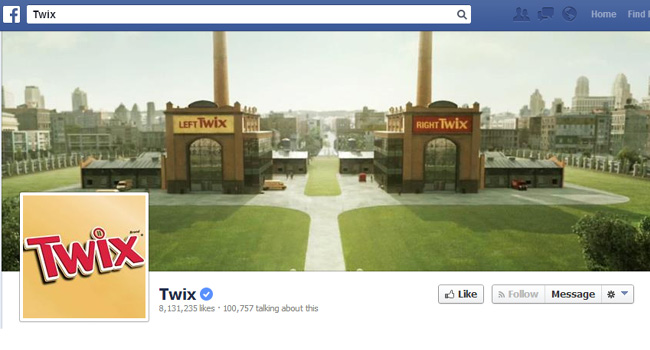 Twix Facebook Cover Photo