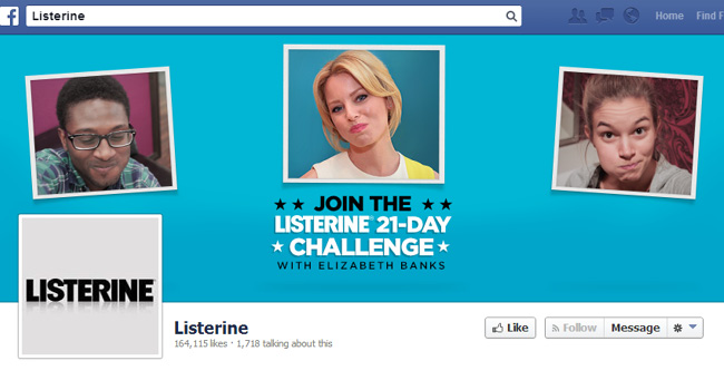 Listerine Facebook Cover Photo