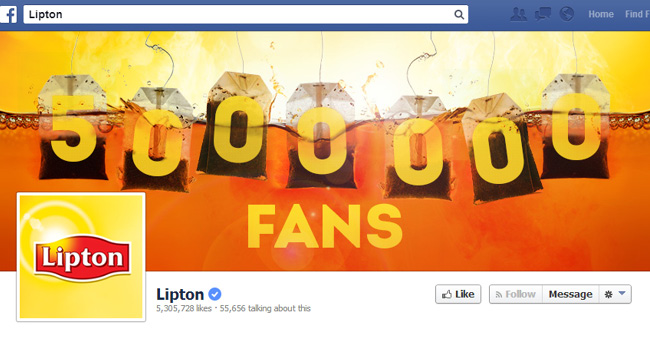 Lipton Facebook Cover Photo