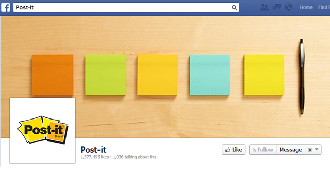 Post it Facebook Cover Photo