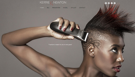 Showcase: Beautiful Websites for Actors, Models and Entertainers