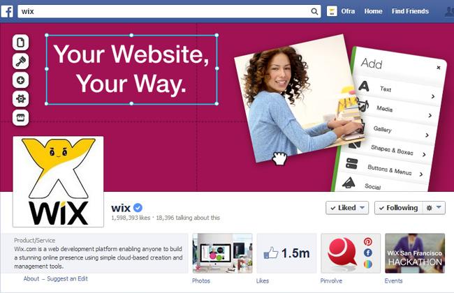 Wix on Facebook