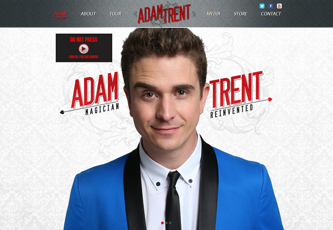 Adam Trent | Design by Atwoodsites