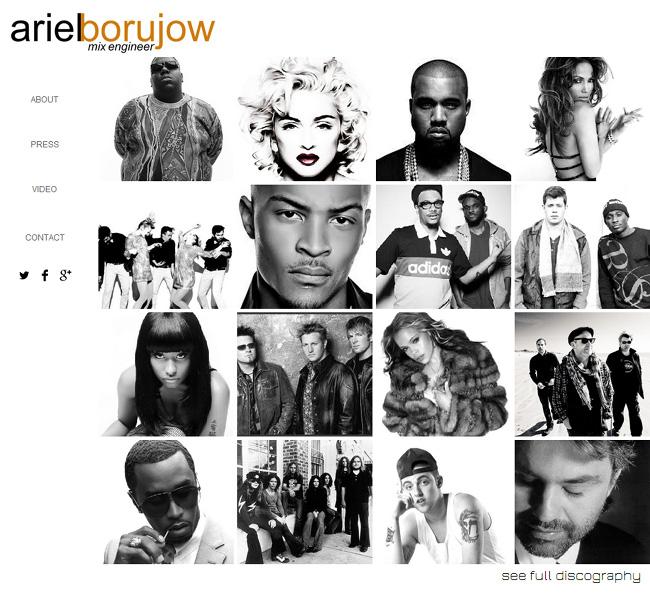 Ariel Borujow Wix Website designed by Karen Lerman
