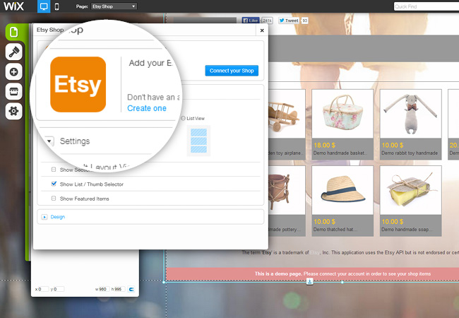 Etsy App: Sell Right from your Site
