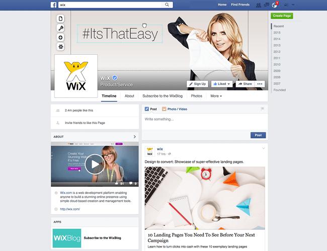 Wix Social Channels