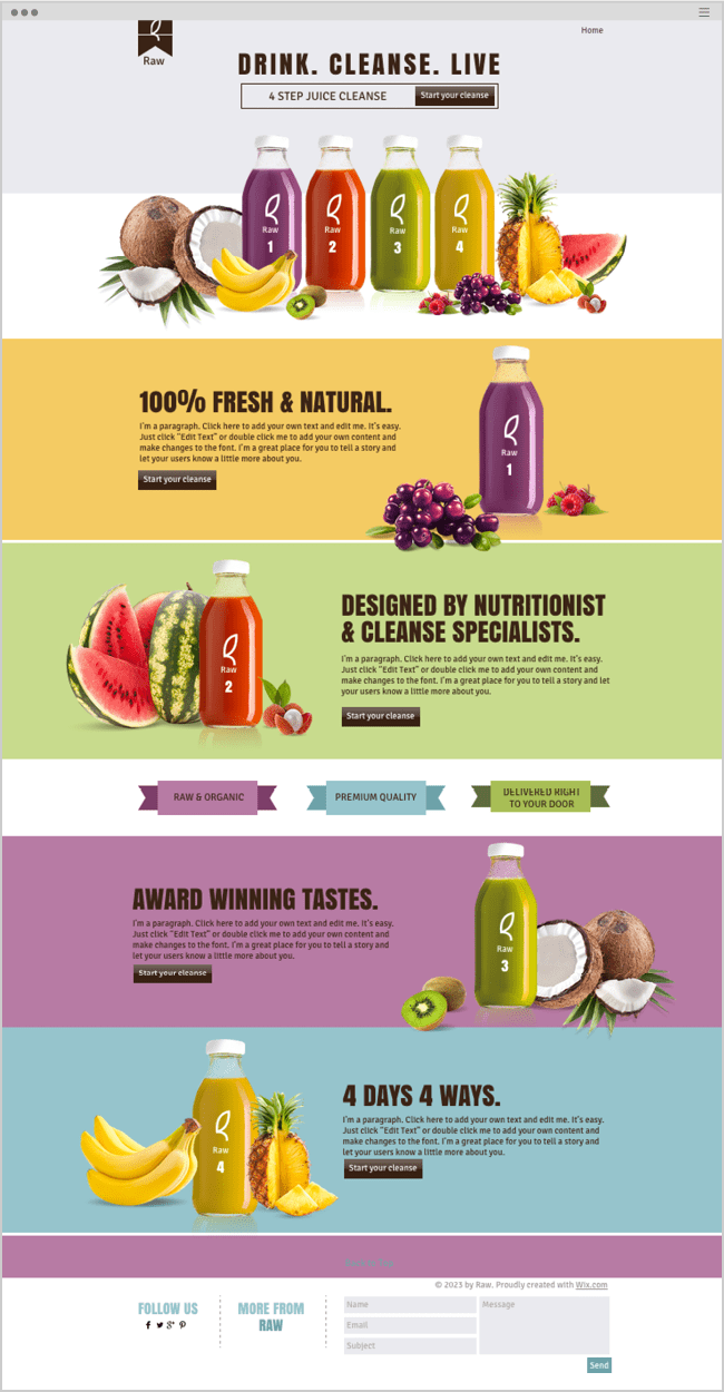 How To Create An Impressive Long Scrolling Website