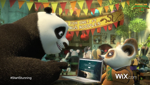 Wix' Super Bowl Campaign Has a Furry Twist… Starring Kung Fu Panda!