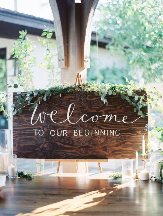 wedding decoration sign