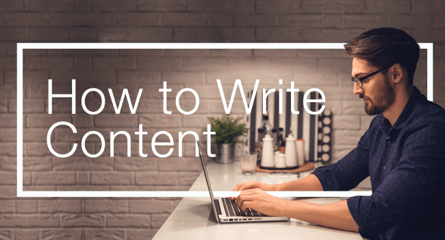 How to write a website content