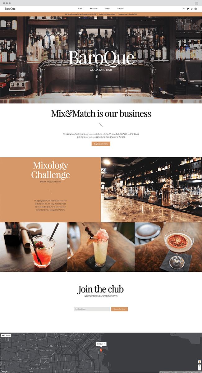 Cocktail Bar Template