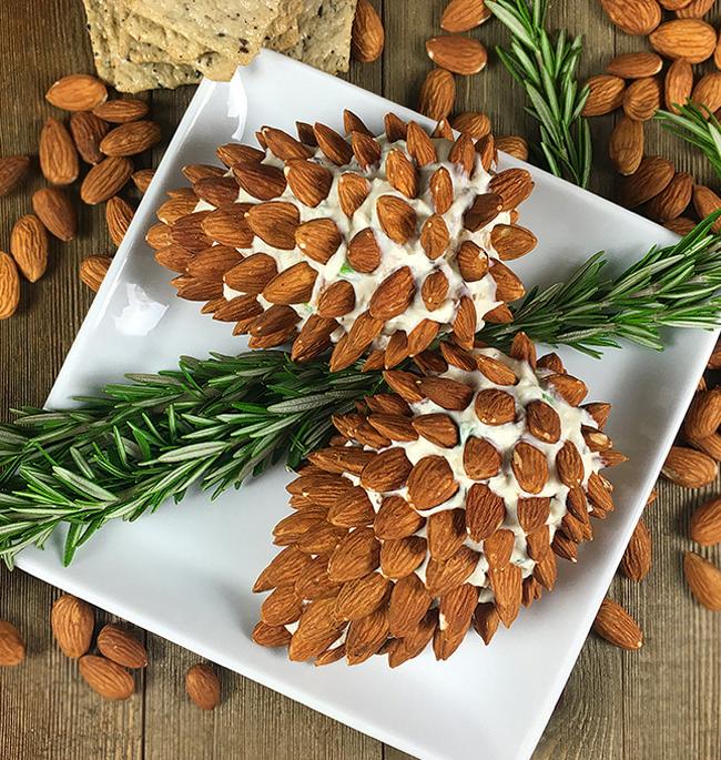 Pine-Cone-Cheese-Ball-Recipe-Christmas-Party-Appetizer-Recipe-Living-Locurto