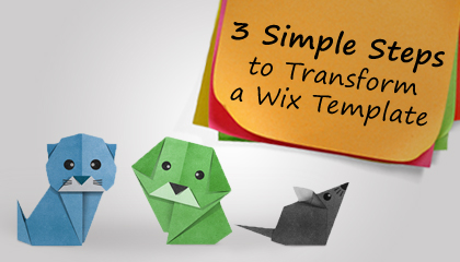 How to transform a wix template into a website in 3 steps for How to change wix template