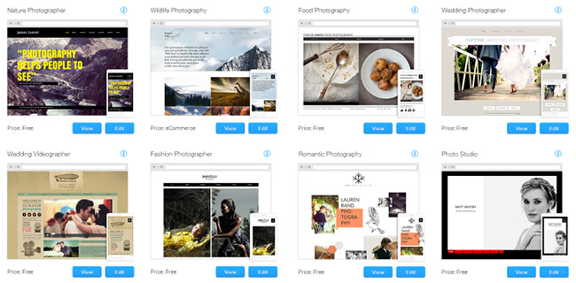 can i download wix templates - amazing website apps for photographers