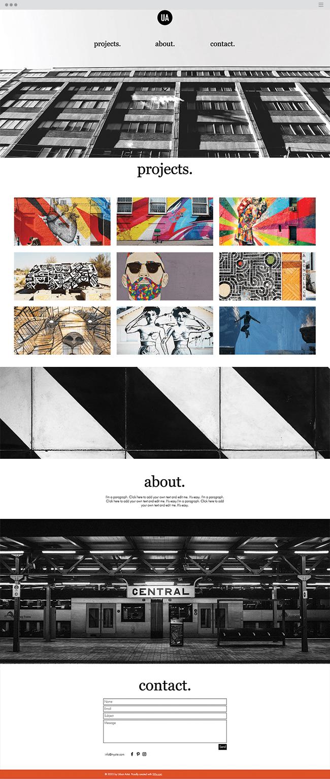 graffitti artist website template