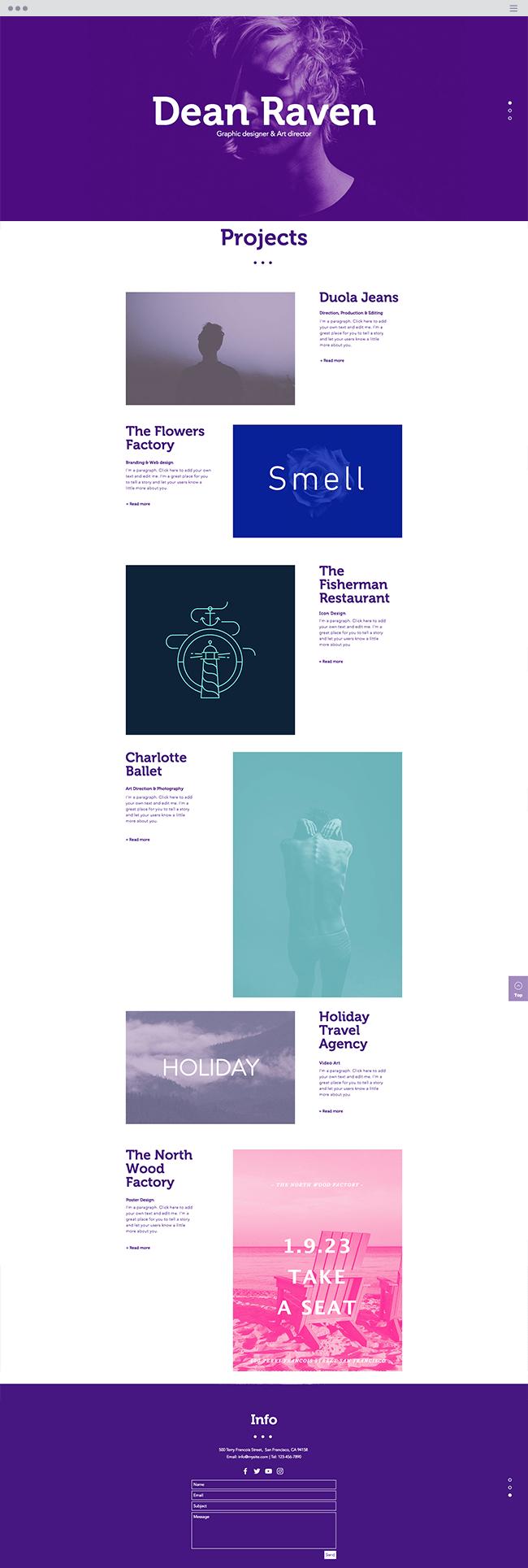 multidisciplinary Designer Website Template