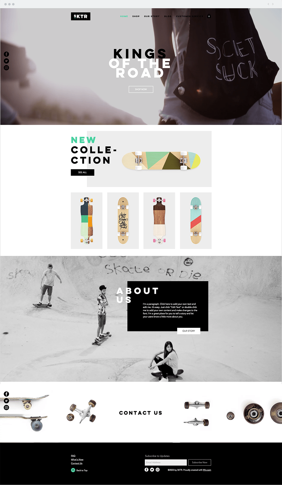 Skateboard Shop Template